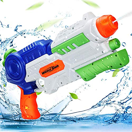 Ucradle Wasserpistole Spielzeug, 1200ML Wasserpistolen groß mit 8-10 Meter Reichweite für Kinder und Erwachsene, Water Gun Water Blaster für Sommerpartys, Strand,...