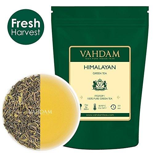 Grüne Teeblätter aus dem Himalaya 100 Gramm (50 Tassen) - Entgiftender, reinigender und gewichtsreduzierter Tee, 100% reiner grüner Tee aus den Hochlandplantagen...