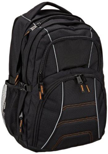 AmazonBasics – Laptoprucksack, geeignet für die meisten 17-Zoll-Laptops (43cm), Schwarz