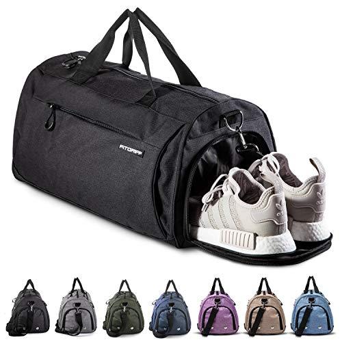 Fitgriff® Sporttasche Reisetasche mit Schuhfach & Nassfach - Männer & Frauen Fitnesstasche - Tasche für Sport, Fitness, Gym - Travel Bag & Duffel Bag 48cm x 26cm...