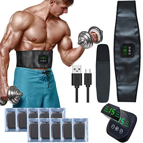 zociko EMS Trainingsgerät, Bauchmuskelgürtel Elektrostimulation Muskelstimulation EMS Bauchtraining Professional Bauch Muskel ABS Muskelstimulator USB-Aufladung...