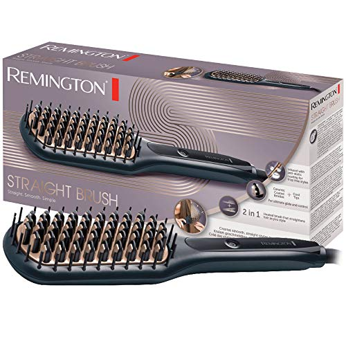 Remington Glättbürste CB7400, hochwertige keramikbeschichtete Borsten mit antistatischer Beschichtung, schwarz