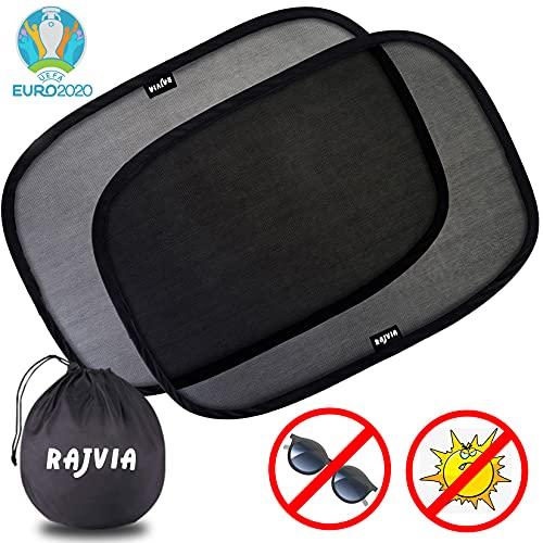 Rajvia Sonnenschutz Auto,Sonnenschutz Auto Baby,mit Zertifiziertem UV Schutz,Auto Sonnenschutz Netz,Baby Sonnenschutz Auto,Sonnenschutz Auto Selbsthaftende...