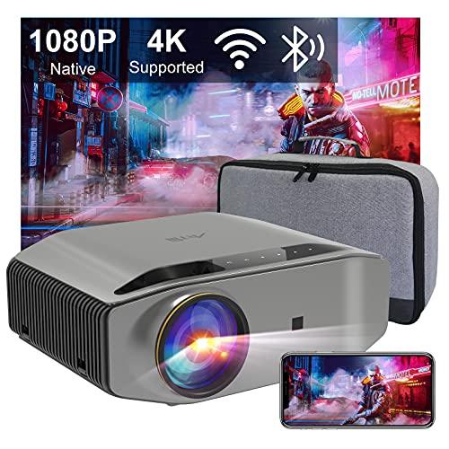 Beamer Full HD WLAN Bluetooth - Artlii Energon2 2.4G/5.0G WiFi Beamer Native 1080P Beamer Outdoor Unterstützt 4K mit 300' und 60% Zoom Projektor Kompatibel mit TV...
