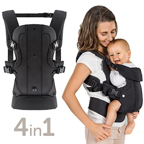 Fillikid - Ergonomische Babytrage/Kindertrage 4in1 - Bauchtrage, Rückentrage, variable Blickrichtung/mitwachsend, verstellbar - für Neugeborene & Kleinkinder...