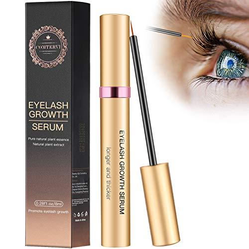 8ml Wimpernserum Augenbrauenserum Wimpern Booster Lash Serum Eyelash Growth Serum mit Hyaluronsäure für Wimpernwachstum und Augenbrauenwachstum Lange Wimpern und...