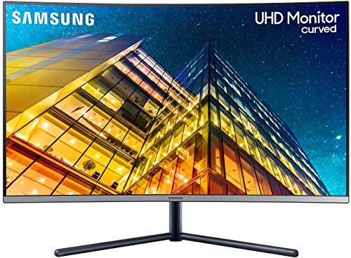 Samsung U32R592CWU 80,1 cm (32 Zoll) Curved UHD 4K Monitor (3.840 x 2.160 Pixel, VA-Panel, 16:9 Format, 60 Hz, 4ms, Dual Monitor geeignet, PC Monitor, Gaming)...