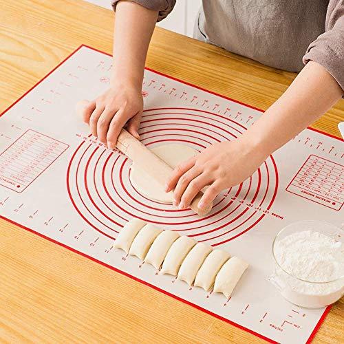 Sinwind Silikonmatte Silikon Backmatte Baking Mat BPA frei Nonstick mit Messungen Fondant Teig Gebäck Backmatte Teigmatte Wiederverwendbar für Fondant Gebäck...