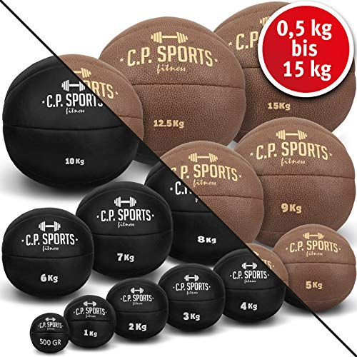 CPSports Medicine Ball K5, Weight Ball, Medicine Balls, Crossfit Ball - Available: 1kg - 10kg (1 KG black)