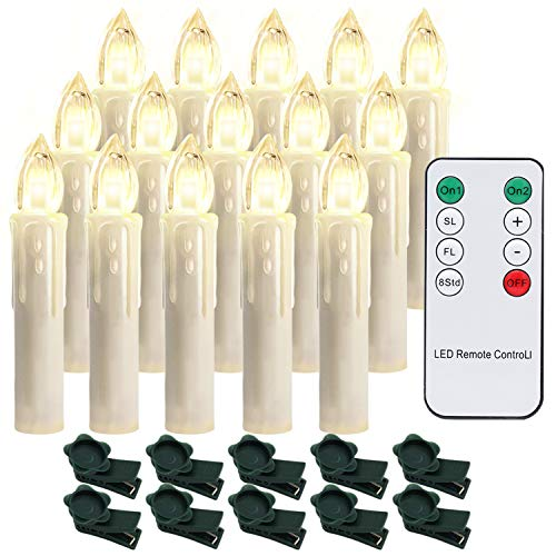Hengda 30er LED Candles Dimmable Christmas Candles Candlelight Flameless for Christmas Tree, Christmas Decor, Wedding, Birthday, Party, Warm White