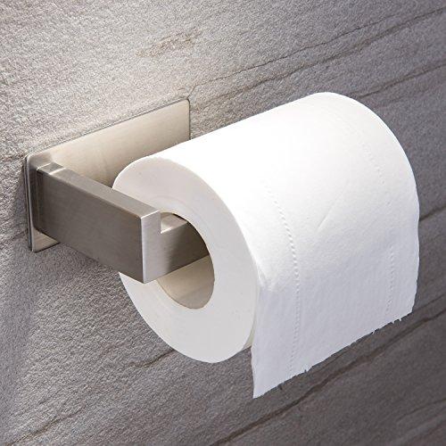 Ruicer Toilettenpapierhalter ohne Bohren Klopapierhalter Selbstklebend Papierhalter Edelstahl für Badezimmer