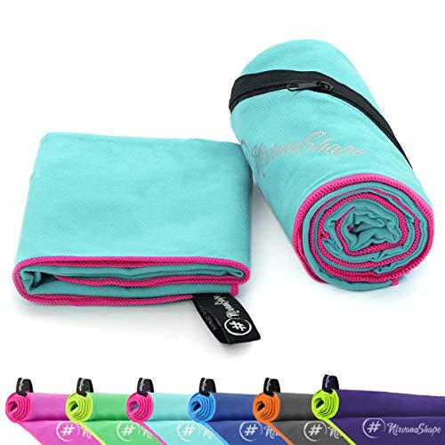 NirvanaShape Mikrofaser Handtücher   saugfähig, leicht, schnelltrocknend   Badehandtücher, Reisehandtücher, Sporthandtücher   Ideal für Reisen, Fitness, Yoga,...