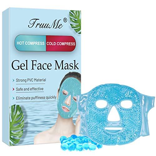 Kühlmaske Gesicht, Augenmaske Kühlend, Kühlende Maske für das Gesicht, Gel Face Mask, für Die Augen, Wohltuende Wellnessmaske, Migräne, Kopfschmerzen,...