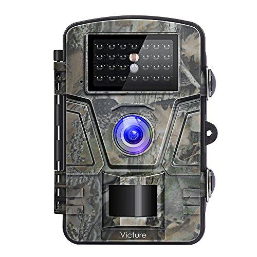 Victure Wildkamera mit Bewegungsmelder Nachtsicht 16MP 1080P Full HD Wildtierkamera mit Infrarot No Glow LEDs und IP66 Wasserdicht Beutekameras für Tierbeobachtung...