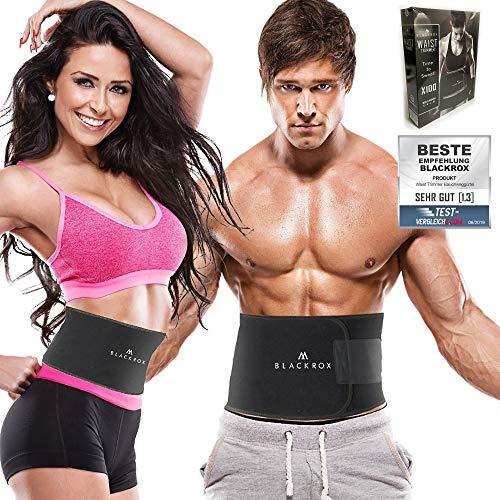 BLACKROX Waist Trimmer Fitnessgürtel Vergleichssieger Damen & Herren,Schwitzgürtel zur Fettverbrennung, Premium Fitness Gürtel Verstellbarer Bauchweggürtel zum...