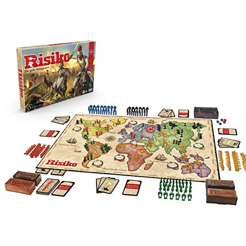Hasbro Gaming Risiko Drachenedition, DAS Strategiespiel mit 5 Spielvarianten: klassisch, Missionen, Duell für 2 Spieler, Drachen-Risiko oder Turbo-Risiko, exklusiv...