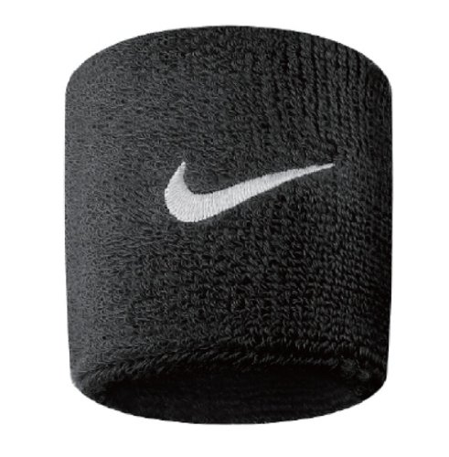 Nike Swoosh Wristbands black / white, 2-pack