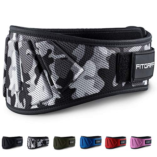 Fitgriff® weight lifting belt V1 - fitness belt for bodybuilding, strength training, weightlifting and crossfit training - training belts for women and men ...