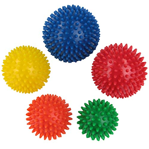 BB Sport Massage Ball Set 5er Hedgehog balls in different degrees of hardness and sizes Massage balls with nubs