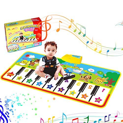 Tanzmatten Klaviermatte, Piano Mat, Musikmatte,Kinder Spielzeug Matte Keyboard Klavier Playmat Musik Boden Berühren Sie Spielmatte für Babys Kinder Kleinkind...