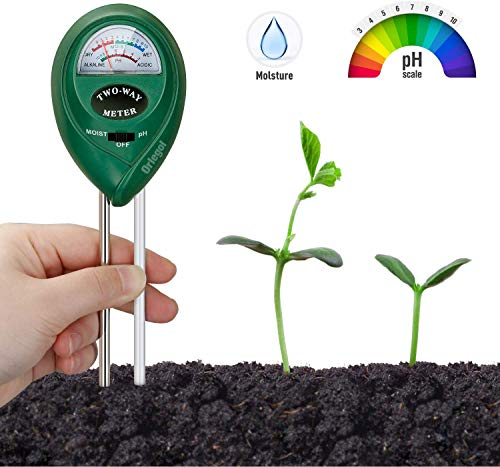 Orlegol Bodentester, Boden Feuchtigkeit Meter, 2-in-1 Pflanze Tester, Bodenmessgerät Feuchtigkeitsmesser und Boden pH Tester für Pflanzenerde, Garten, Bauernhof,...