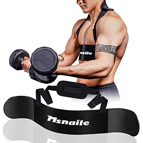 Msnaile Hochleistungs Bizeps Isolator Arm Blaster für Arm Bizeps & Trizeps Körperaufbau und Muskelkraftzuwachs,für Gewichtheben und Hanteln & Hanteln Ausgewogene...