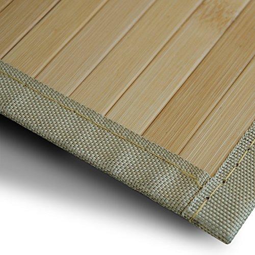 casa pura Bambusteppich Marigold | für Bad und Wohnzimmer | natürlich wohnen Bambus | Bambusmatte in vielen Größen (160x230 cm)