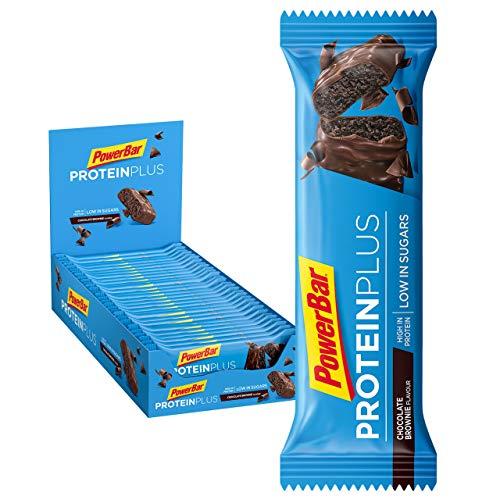 PowerBar Protein Plus -palkki, jossa vain 107 Kcal - vähän sokeria sisältävä proteiinibaari, kuntobaari kuidulla - suklaapipulia (30 x 35 g)