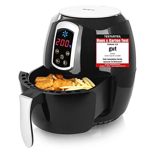 Emerio Heißluftfritteuse, Airfryer, Smart Fryer, Test'GUT', Frittieren ohne Öl, 3,6 Liter Volumen, 1400 Watt, AF-115668