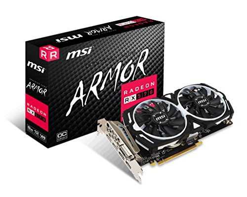 MSI V341-236R Radeon RX 570 Armor 8G OC graphics card black / red