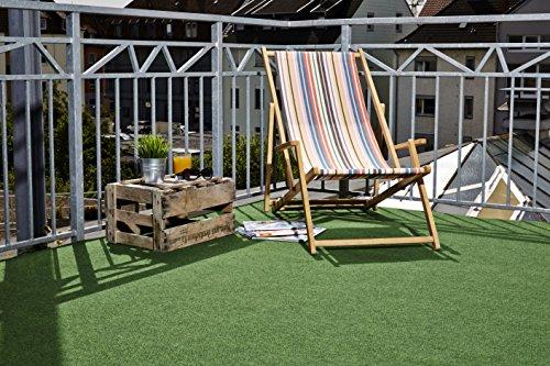 misento Rasenteppich Easy Kunstrasen strapazierfähig, robust, pflegeleicht mit Drainage Noppen grün 200 x 400 cm