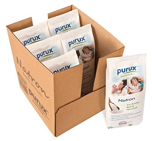 Purux Natron Pulver 5kg + 1kg Bonus, Lebensmittelqualität nachhaltig verpackt