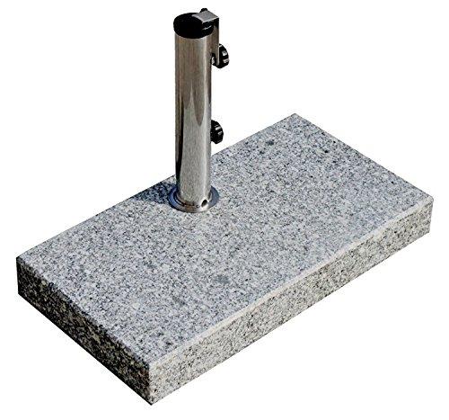 ProKIRA® Sonnen Schirmständer / 25 kg/bis Ø300cm / Granit Balkonschirmständer/eckig