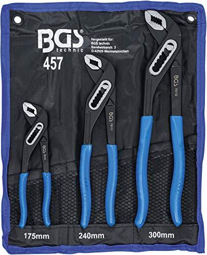 BGS 457 | Wasserpumpenzangen-Satz | 3-tlg | 175-240-300 mm | rutschhemmend | Klemmschutz | Rohrzange / Pumpenzange