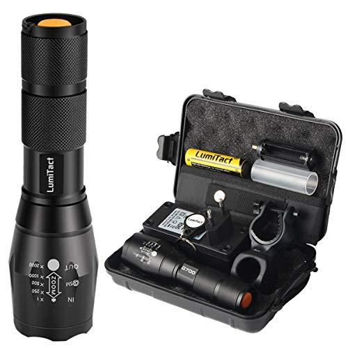 Lumitact G700 LED Taschenlampe, Extrem Hell 3000 Lumen CREE Wiederaufladbare Taktische Taschenlampen, Aufladbar Fackel für Camping Wandern und Notfälle (Inklusive...