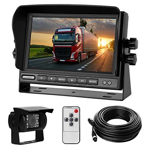 Rückfahrkamera-Set mit 7'-LCD-Monitor & 170° Weitwinkel- Rückfahrkamera, IP68 wasserdicht, 18IR Nachtsicht, für...