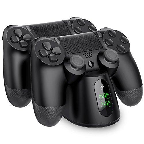 BEBONCOOL PS4 Controller Ladestation, Dualshock 4 Ladestation Ladegerät Ständer mit LED Anzeige & Micro USB Kabel Zubehörset für Sony Playstation 4 / PS4 Slim /...