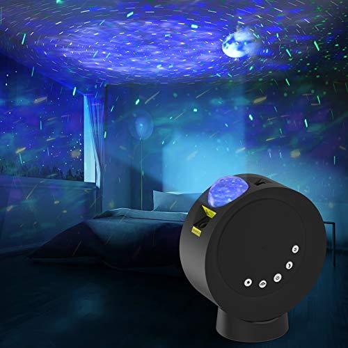 LED Sternenhimmel Projektor, Nebula Galaxy Sternenprojektor Mondlichtlampen 4000mAh Batteriebetriebene mit Fernbedienung, Schlafzimmer Nachtlichter für Kinder...