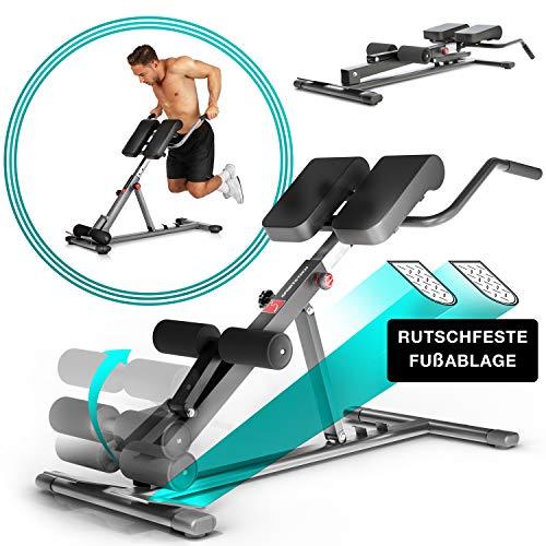 Sportstech Gesund&Fit in 2019 6in1 Rückentrainer & Bauchtrainer inkl. Dip Bar für zu Hause, ergonomisch höhenverstellbar, Arretier & EasyFolding System,...