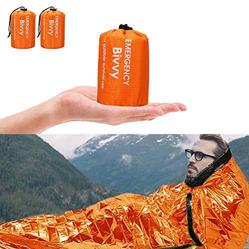 Charminer Notfallzelt,Biwaksack Survival Schlafsack warm Outdoor Tube Zelt wasserdicht leicht hitzeabweisend Kälteschutz Ultraleicht Rettungszelt für Camping im...