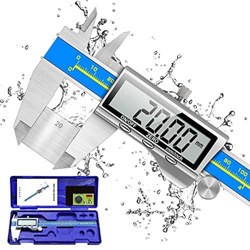 Digitale Schieblehre Industriequalität, Orthland Messschieber Digital Messlehre 150mm mit Hoch Messgenauigkeit&Groß LCD, Tiefenmesser Edelstahl Analog IP54...