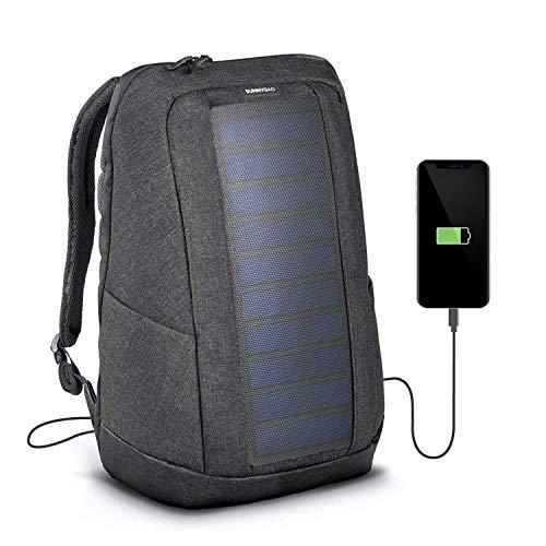 Sunnybag Iconic Solar-Rucksack mit integriertem 7 Watt Solar-Panel | USB-Anschluss | Wireless-Charging | Laptop-Fach für 17-Zoll-Notebook | 20 Liter |...