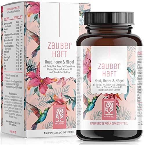 Hiusten vitamiinit - 375 mg piitä suurina annoksina ja biotiinisinkkiseleeni hiuksille - piidioksidi bambusta, kuparista, jodista, sahapalmusta, nokkosen ja B-vitamiineista - 120 hius ...