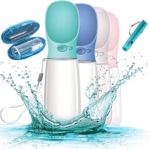 Paw's Beauty Premium 550 ML Hundetrinkflasche für unterwegs - Wasserflasche Hund Tragbare Haustier Wasserflasche - BPA Frei & Auslaufsicher inkl. Pfeife &...
