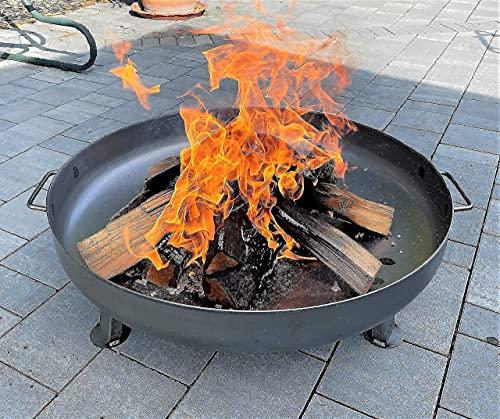 Czaja Feuerschalen® Feuerschale Bonn Ø 80 cm - mit Wasserablaufbohrung - Feuerschalen für den Garten, Terrasse und Balkon, Feuertonne und Feuerkorb , große...