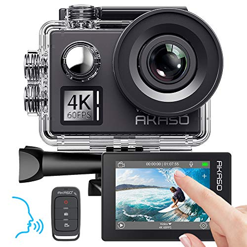 AKASO Action cam 4K/60fps /Sports kamera/Action Kamera 20MP WiFi mit Touchscreen EIS 40M unterwasserkamera V50 Elite mit 8X Zoom Sprachsteuerung Fernbedienung...
