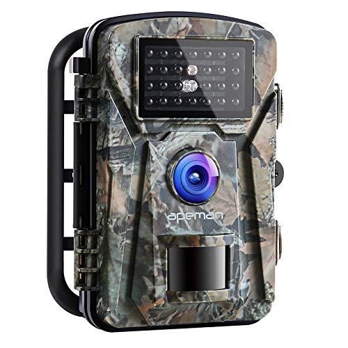 APEMAN Wildkamera Fotofalle 1080P Full HD 16MP Jagdkamera Weitwinkel Vision Infrarote 20m Nachtsicht wasserdichte IP66 Überwachungskamera mit 2.4' LCD Display