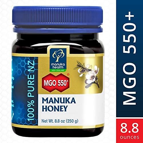 Manuka Health - Manuka Honig MGO 550+ (250 g) - 100% Pur aus Neuseeland mit zertifiziertem Methylglyoxal Gehalt