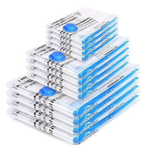 BoxLegend Vakuumbeutel 12 Stück Dickere Art 100 Mikron Aufbewahrungsbeutel Reise 4 * 100x80 +4 * 80x60 + 4 * 60x40cm Wiederverwendbar Kleiderbeutel für Kleidung...