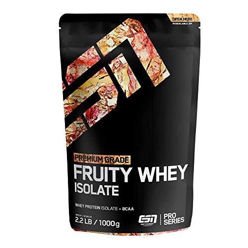 ESN Fruity Whey Isolate - 1000g - Vihreä omena - Hedelmävalkuaisjauhe, jossa on runsaasti EAA: ta ja BCAA: ta - käytännöllisesti katsoen laktoosi- ja rasvaton - 33 annosta - Valmistettu ...